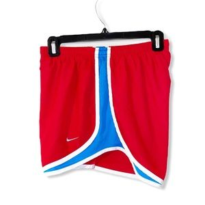 NIKE red Tempo running shorts